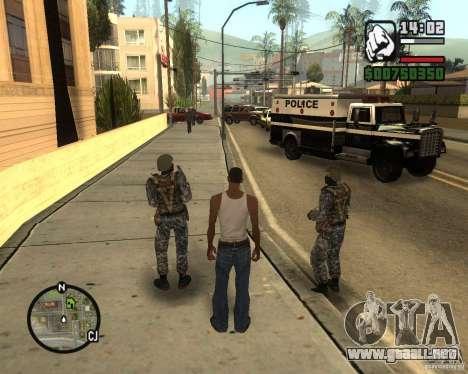 POLICÍA antidisturbios rusa para GTA San Andreas