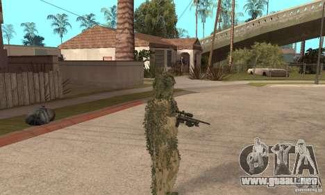Francotirador de piel para GTA San Andreas sucesivamente de pantalla