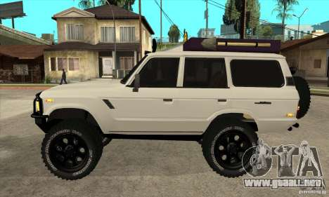Toyota Land Cruiser 70 1993 Off Road Samurai para GTA San Andreas left