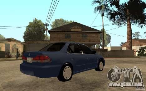 Honda Accord 2001 beta1 para la visión correcta GTA San Andreas