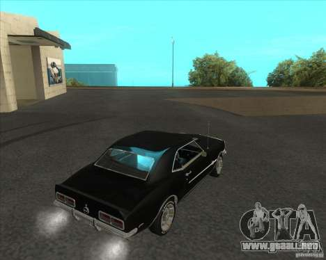 Chevrolet Camaro RSSS 396 1968 (fixed) para GTA San Andreas left