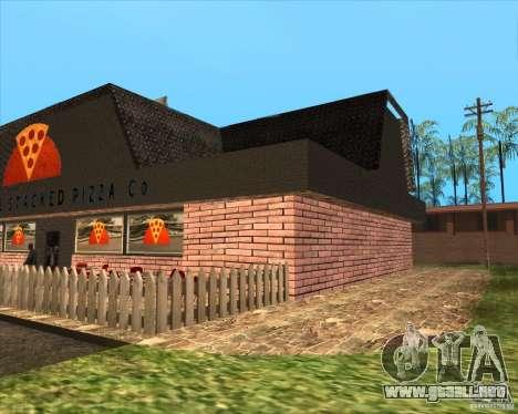 Pizzeria nueva en IdelWood para GTA San Andreas segunda pantalla