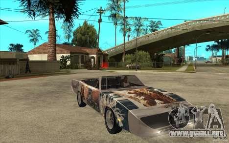 Plymouth Roadrunner Superbird Custom para GTA San Andreas vista hacia atrás