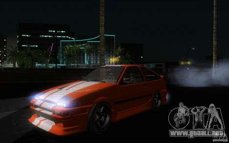Toyota Sprinter Trueno AE86 Drift spec para visión interna GTA San Andreas