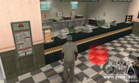 Dinosaurio para GTA San Andreas segunda pantalla