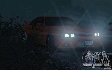 Nissan Skyline para GTA 4 vista hacia atrás
