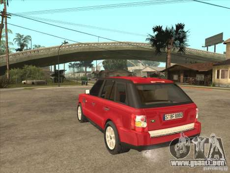 Range Rover Sport 2007 para GTA San Andreas vista posterior izquierda
