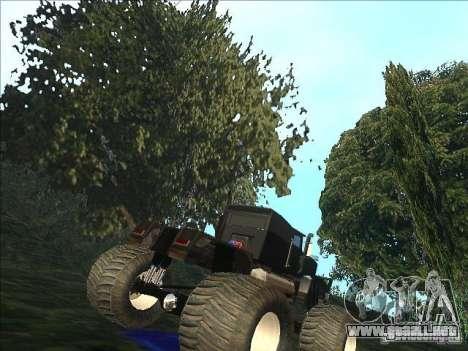 Monsterous Truck para la visión correcta GTA San Andreas