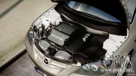 Mazda 3 2004 para GTA 4 vista hacia atrás