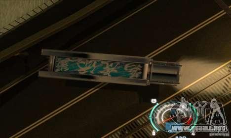 Carro japonés para GTA San Andreas vista hacia atrás