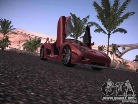 Koenigsegg CCX 2006 para GTA San Andreas vista hacia atrás