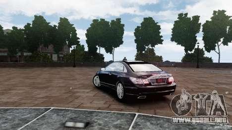 Mercedes Benz E500 Coupe para GTA 4 Vista posterior izquierda