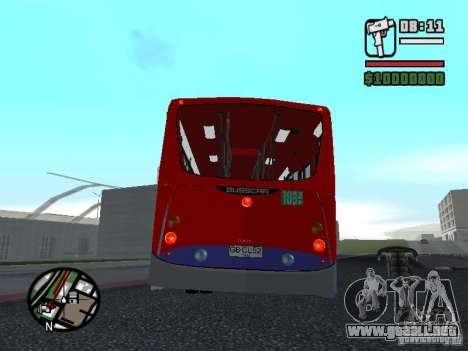 Busscar Urbanuss Pluss VW 17-230 EOD Alongado para la visión correcta GTA San Andreas