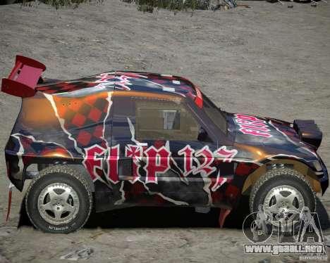 Mitsubishi Pajero Proto Dakar vinilo 3 para GTA 4 Vista posterior izquierda