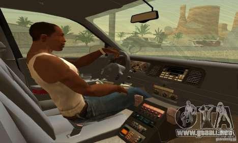 Ford Crown Victoria Oklahoma Police para GTA San Andreas vista posterior izquierda