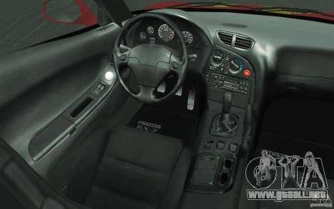 Mazda RX-7 - FnF2 para vista inferior GTA San Andreas