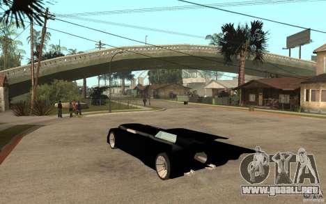 Batmobile Tas v 1.5 para GTA San Andreas vista posterior izquierda