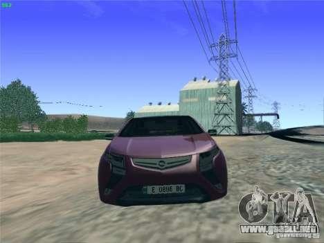 Opel Ampera 2012 para la visión correcta GTA San Andreas