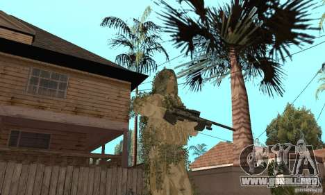 Francotirador de piel para GTA San Andreas quinta pantalla