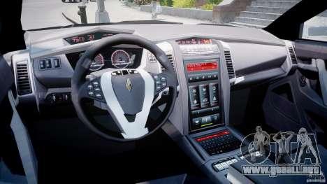 Carbon Motors E7 Concept Interceptor Sherif ELS para GTA 4 visión correcta