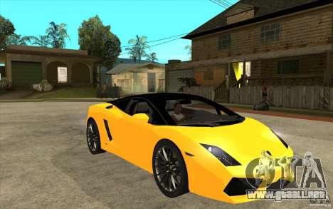 Lamborghini Gallardo LP560 Bicolore para GTA San Andreas vista hacia atrás
