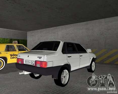 Vaz 21099 luz sintonizado para GTA Vice City vista lateral izquierdo