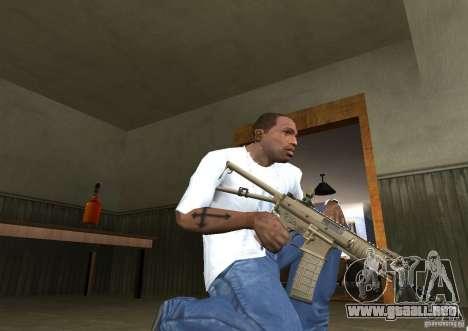 KAC PDW para GTA San Andreas tercera pantalla