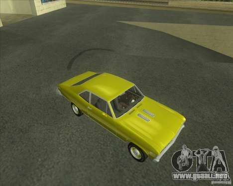 Chevy Nova SS 1969 para GTA San Andreas left