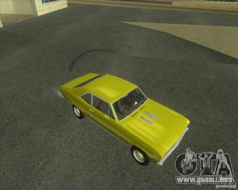 Chevy Nova SS 1969 para GTA San Andreas left