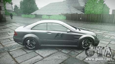 Mercedes Benz CLK63 AMG Black Series 2007 para GTA 4 vista interior
