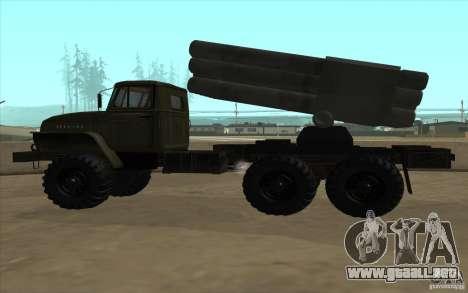 Ural 4320 Grad v2 para visión interna GTA San Andreas