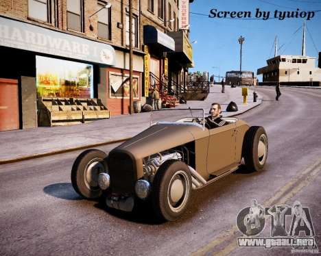 Roadster High Boy para GTA 4 vista interior