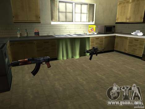 Pak versión doméstica armas 2 para GTA San Andreas