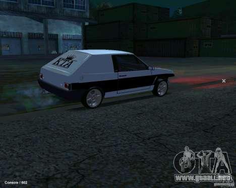 VAZ 2108 Drag para GTA San Andreas vista posterior izquierda