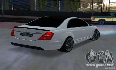 Mercedes-Benz S65 AMG Edition para GTA San Andreas left