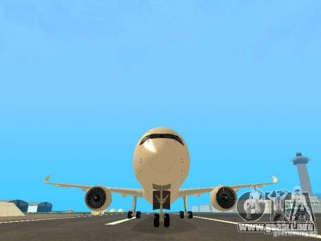 Airbus A350-900 Singapore Airlines para vista lateral GTA San Andreas