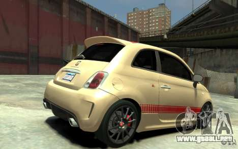 Fiat 500 Abarth Esseesse V1.0 para GTA 4 visión correcta