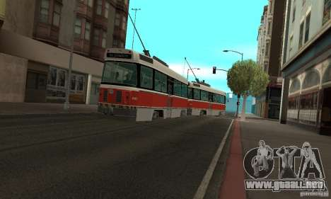 Canadian Light Rail para GTA San Andreas left