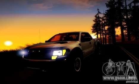 Ford F-150 SVT Raptor V1.0 para visión interna GTA San Andreas
