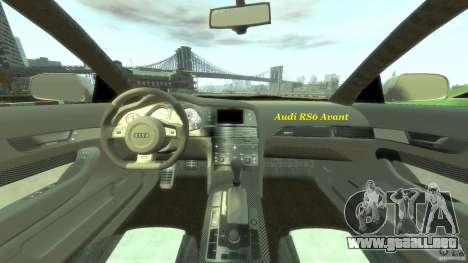 Audi RS6 Avant 2010 Stock para GTA 4 ruedas