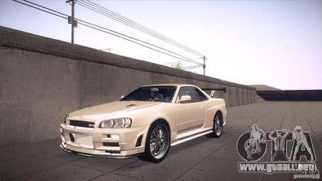 Nissan Skyline R34 para vista inferior GTA San Andreas