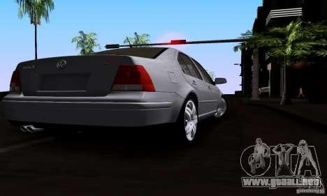 Volkswagen Bora 1.8T para GTA San Andreas vista posterior izquierda