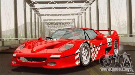 Ferrari F50 v1.0.0 Road Version para vista lateral GTA San Andreas