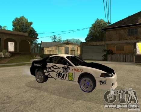 2003 Ford Mustang GT Street Drag para la visión correcta GTA San Andreas