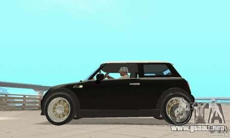Mini Cooper Hardtop para GTA San Andreas vista posterior izquierda