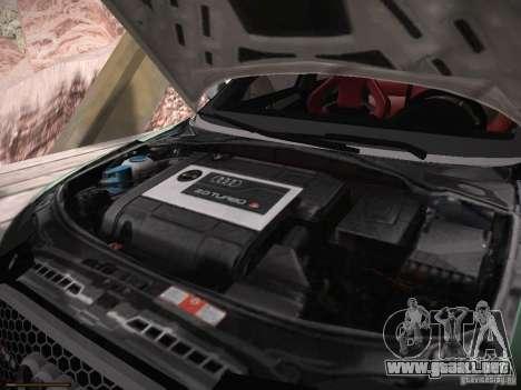 Audi RS3 2011 para visión interna GTA San Andreas