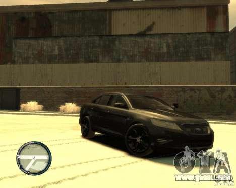 Ford Taurus Police Interceptor Stealth para GTA 4 left