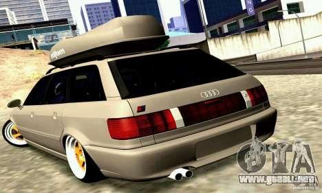 Audi RS2 Avant Thug para GTA San Andreas vista posterior izquierda