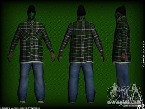 G.R.O.V.E. Skinpack para GTA San Andreas quinta pantalla