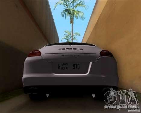 Porsche Panamera 970 Hamann para visión interna GTA San Andreas